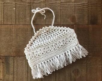 Crocheted tank top, girls top, halter top, summer top, girl's clothing, crocheted halter, girl's gift idea, photo prop