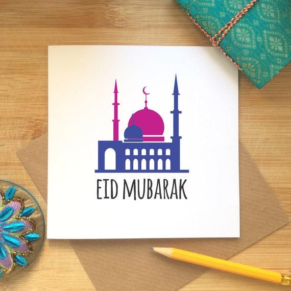 Items Similar To Islamic Greeting Card, Eid Celebrations
