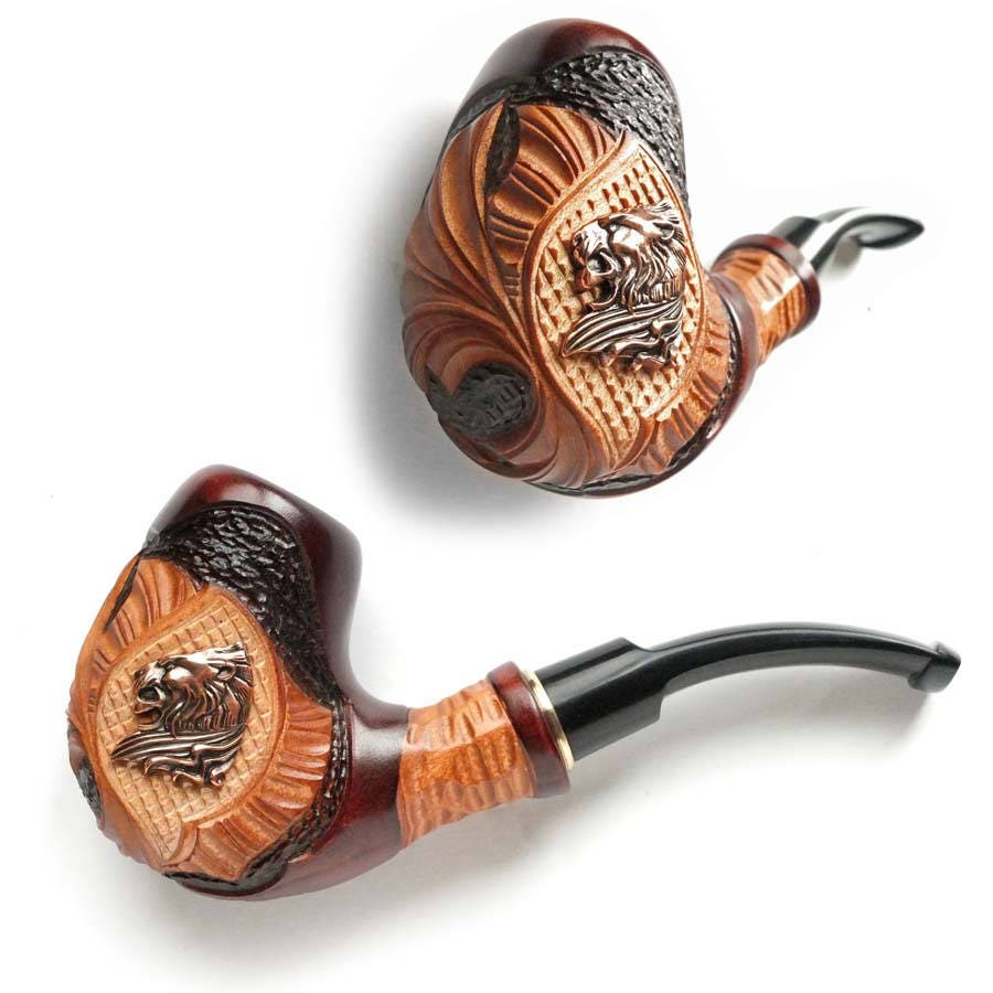 New Smoking Pipe Lion Wooden Pipe Tobacco Pipe