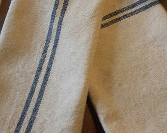 Set of 4 placemats grainsack blue stripes