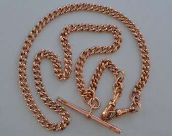 9ct Rose Gold Victorian Watch Chain (914j)