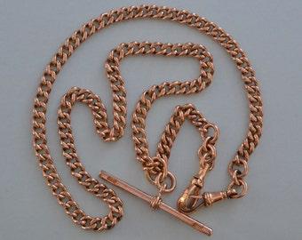 9ct Rose Gold Victorian Watch Chain (914j)