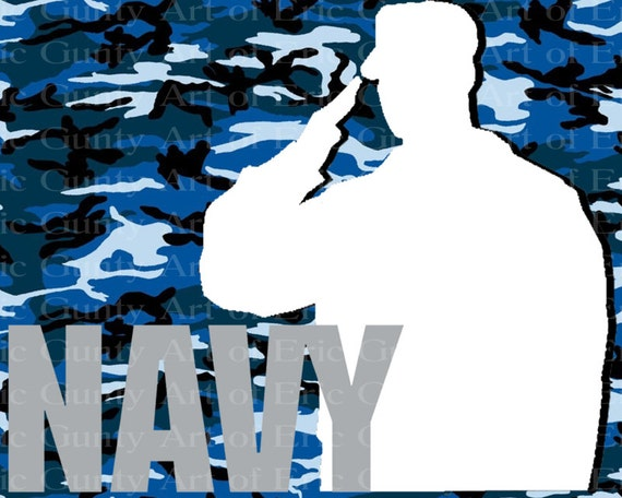 Navy Military Camo Birthday - Edible Cake and Cupcake Topper For Birthday's and Parties! - D21925