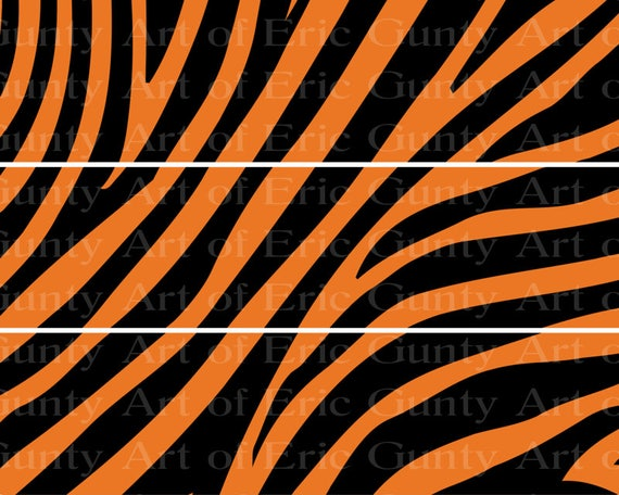 Tiger Stripes - Designer Strips - Edible Cake Side Toppers- Decorate The Sides of Your Cake! - D22469