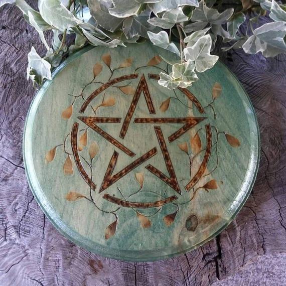 Large Altar Pentacle - Altar Tile - Altar Paten - Wiccan Altar - Pentacle Altar