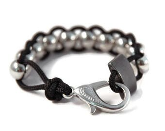 Black Anxiety Bracelet, Fidget Bracelet, Fidget Jewelry, Anxiety Jewelry, Sensory Bracelet, Stim Jewelry, Autism Bracelet, Calming Jewelry