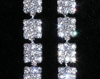 Style # 15088 - Rhinestone Siding Earrings
