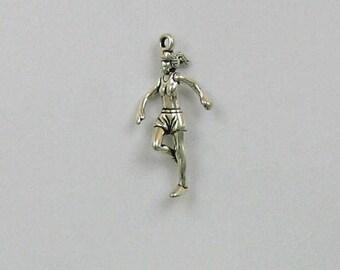 Sterling Silver 3-D Female Runner Charm