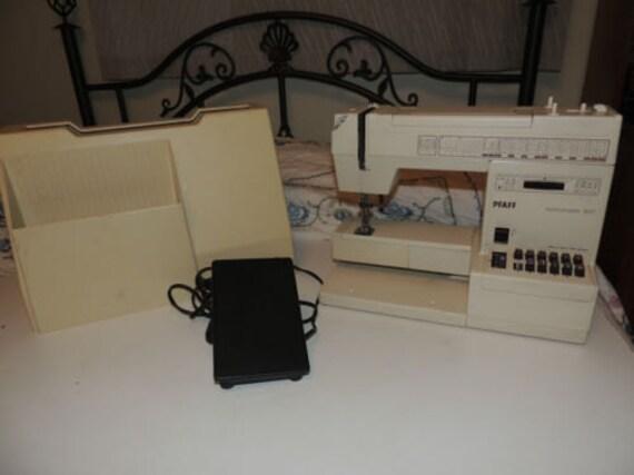 Pfaff Hobbymatic 947 Sewing Machine Free Arm Multistich AS IS Hard Case