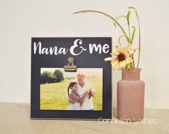 Personalized Photo Frame, Mother's Day Gift Ideas for Grandma {Nana and Me} Custom Picture Frame Present For Grandma, Gift For Grandma, Nana