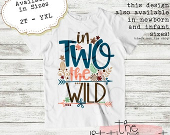 Birthday Outfit - TShirt - Birthday Gift - Birthday Shirt - Birthday - 2nd Birthday - Second Birthday - 2nd Birthday Shirt - In TWO The Wild