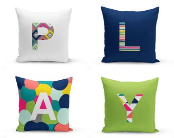 Play Room Pillow Covers, Play Pillow, Play Typography, Playroom Decor, Pillow Cover, Home Decor, Kids Room Pillows SET OF 4