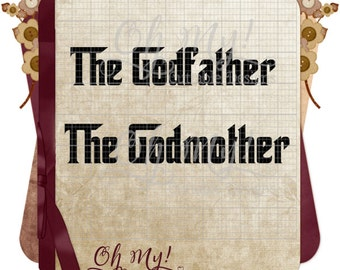 The Godfather The Godmother Cutting File Svg Eps Dxf Png Cutting Files