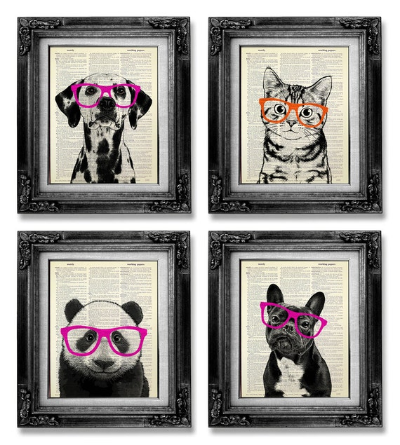 Wall art for college : College dorm decor wall art animal
