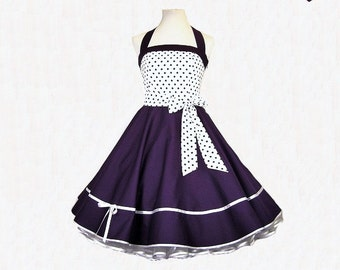 Petticoat dress Purple dress, dots dress, bachelor dress, confirmation dress, youth dress, wedding dress,prom dress, party dress, dress