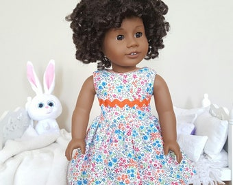18 inch doll floral dress