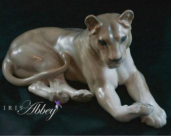 Royal Copenhagen Lioness Figurine by Lauritz Jensen, #804