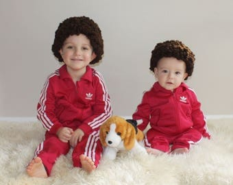 Ari and Uzi Tenenbaum The Royal Tenenbaums Inspired  Hat Wig All Sizes Available Newborn to Adult FAST SHIPPING,  No Waiting List Dark Brown