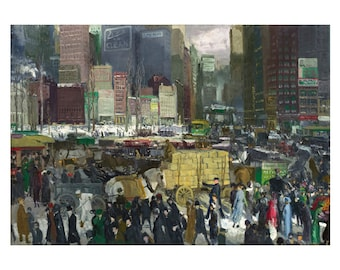 New York Oil Painting, George Bellows Print