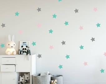 Stars Decal   Choose Your Color, Geometric Wall Decal, Wall Decals Nursery,  Scandinavian