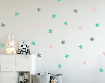 Bon Stars Decal   Choose Your Color, Geometric Wall Decal, Wall Decals Nursery,  Scandinavian
