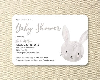 PRINTABLE Baby Animals Baby Shower Invitations