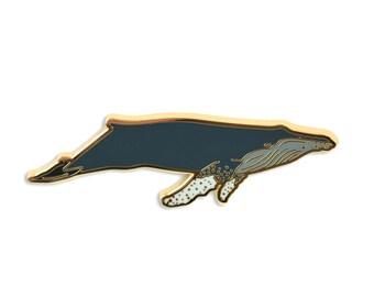 Whale Lapel Pin - Humpback Hard Enamel Pin
