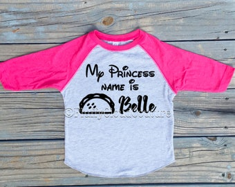 My Princess Name is Taco Belle- toddler shirt / raglan / baby shirt / toddler fashion / baby fashion / women's shirt /women's fashion