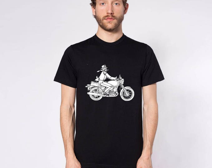 KillerBeeMoto: The Grim Reaper Commutes to Work On His Motorcycle Short or Long Sleeve T-Shirt