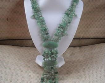 Stunning Semi Precious Multi Strand  Polished Gem-Stone Necklace