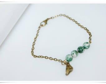 Bracelet brass agate panty minimal bronze jewelry bracelet articulated bronze agate gemstone bracelet minimalistik