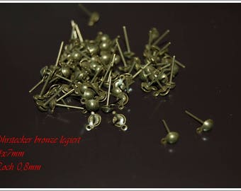 Studs bronze ball with Löchle