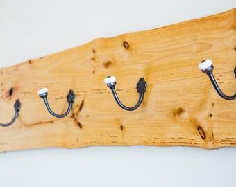 Salvaged Camphor Timber Coat Hook - natural edge finish