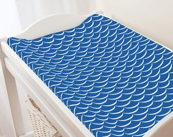 Carousel Designs Ocean Blue Waves Changing Pad Cover