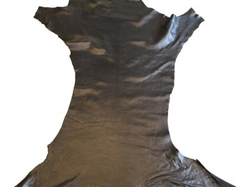 LAST ONE Soft Black tanned genuine lambskin hides with a pearlescent finish quality leather material FS808-4