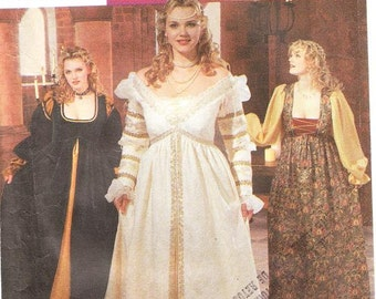Simplicity 9228 Women's Renaissance Costume Pattern, 18W-24W