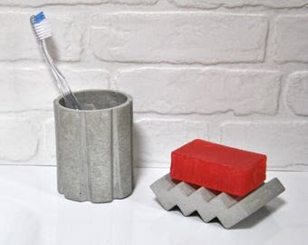 SOAP dish of concrete | Bath decor | Bathroom accessory | SOAP tray | SOAP dish | Architect gift.