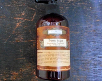 Burnt Sugar Organic Hair Conditioner for Men - Smoky Caramelized Sugar - Reconstruction Hair Conditioner Organic Oils and Extracts - 9.3 oz