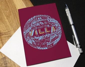 Aston Villa Football Greetings Card