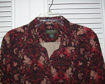 Jacket XL Petite, Eddie Bauer Pinwale Corduroy Jacket,  Rich Warm Colors, Jacket XL, see details