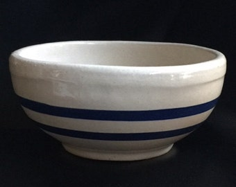 RRP Co. Stoneware - Bowl - Two Cobalt Stripes - RRP Co. Pottery - Robinson Ransbottom Pottery - Made in USA - Soup Bowl - Cereal Bowl