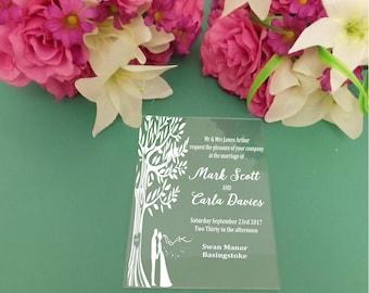 Personalised acrylic wedding invitations/Custom Wedding Invitations/Printed Wedding Invitations/Luxury wedding invitations/Perspex Invites