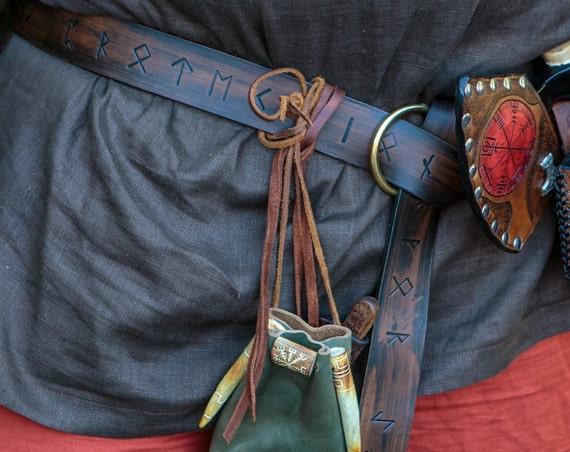 Norse Runic Viking Ring Belt - Elder Futhark - Asatru Heathen Pagan Magickal