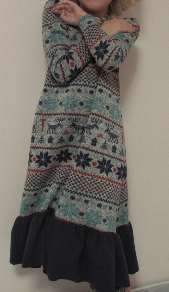Girls sweater dress /Girls winter dress / girls warm dress / toddler dress / junior dress / matching dress, leggings, and infinity scarf