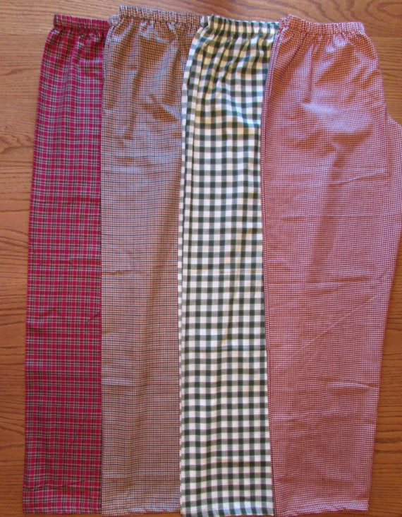 Mens pajamas/ boys pajamas/ father and son/his and hers pajamas/plaid/ hand woven cotton / light weight / sizes 6 mon to xl men/ 9 prints