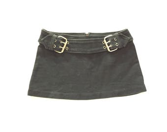 Vintage 80s\90s Heavy Buckle Mini Skirt
