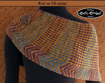 CORRUGATED CURVES Knit Shawl Pattern [Digital File Download]