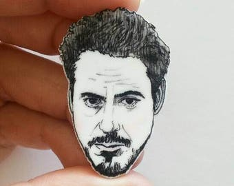 Robert Downey Jr / Downeylings/Ducklings/Illustrated Pin/Pin/Necklace Charm