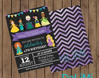 Princess Invitation - Princess Birthday Invitation - Disney Princess Themed Party - Princess Party Invitation - Printable Invitation!