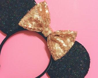 Black Twinkle Mouse Ears